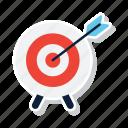 arrow, dart, dartboard, focus, goal, target icon