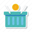 basket, cart, ecommerce, money, shopping, store icon