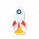 launch, missile, rocket, share, spaceship, startup icon
