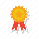 achievement, award, badge, medal, military, ribbon, winner icon