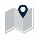 direction, gps, location, map, place, sight icon