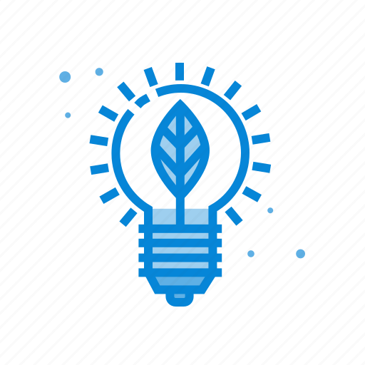 bulb, creative, idea, leaf icon
