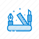 design, pen, ruler, tools icon