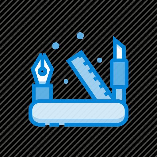 design, pen, ruler, tools icon