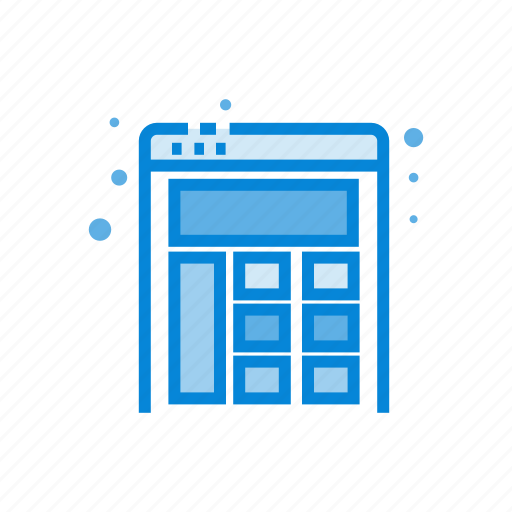 design, layout, website icon