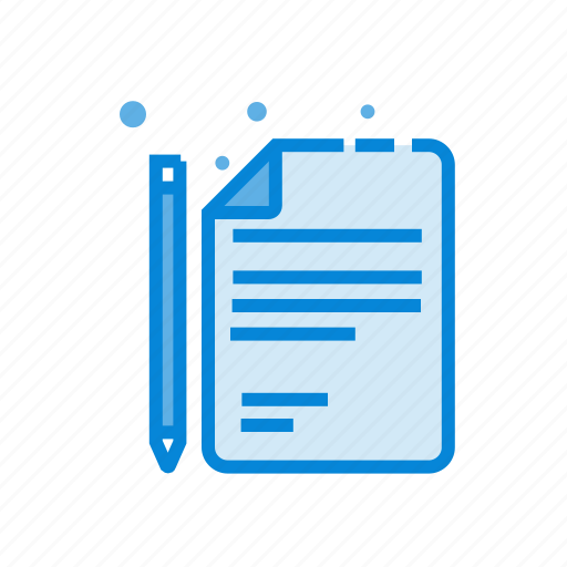 brief, pencil, project icon