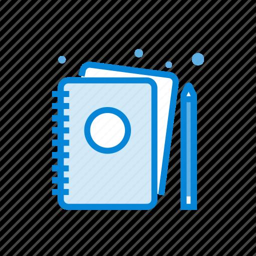 book, portfolio, sketch icon
