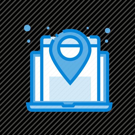 map, pointer, website icon