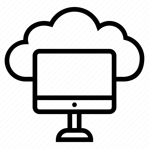 cloud computing, cloud development, computing, connect online, internet connection, online, online computing icon
