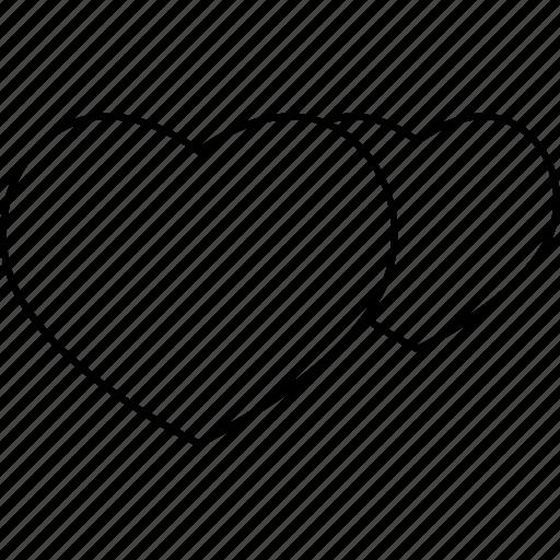 heart, love, marketing, web icon