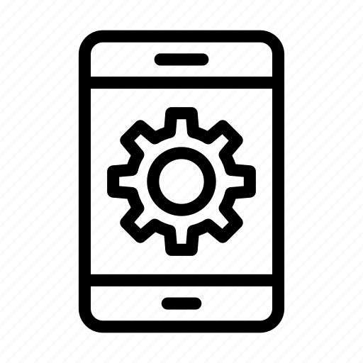 cell, configure, mobile, phone, setting icon