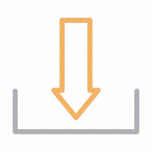 arrow, download, online, save, sign icon