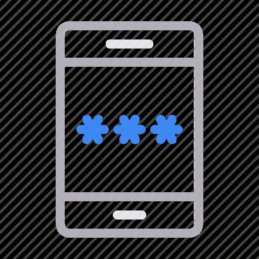 lock, mobile, password, phone, secure icon