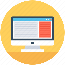 user interface, web browsers, web pages, websites, window tabs icon