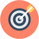 archer, archery, circular target, goal, target icon