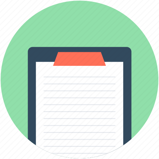 clipboard, clipboard list, memo, prescription, report icon