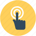 click here, finger gesture, finger pressing, finger touch, pointing finger icon