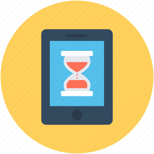 egg timer, hourglass, initializing screen, sand timer, timer icon