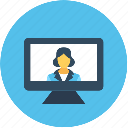 computer screen, video call, video conference, video screen, voice chatting icon