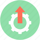 cog, cogwheel, custom settings, gear, uploading settings icon
