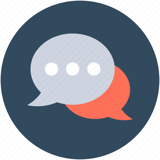 chat balloons, chat bubbles, comments, speech balloons, speech bubbles icon