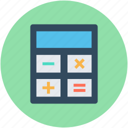 accounting, calculating device, calculator, digital calculator, m, stationery icon