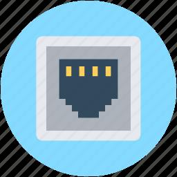 connection, ethernet, internet socket, lan socket, network socket icon