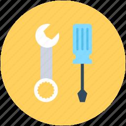 garage tool, reparing tools, screwdriver, settings, tools icon