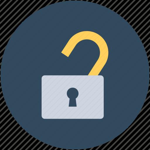 access, lock, open padlock, safety, unlocked icon