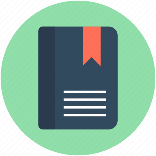 book, bookmark, bookmark diary, education, study icon