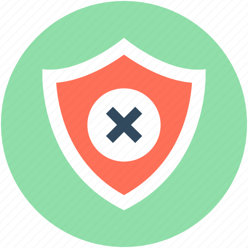 authentication, cancel, cancel protection, remove, secure icon