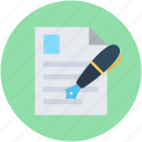 content management, interface, resume, resume writing, writing article icon
