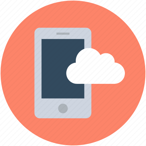 cell phone, cellular phone, cloud computing, mobile, mobile phone icon