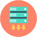 database, network server, server, server rack, web hosting icon