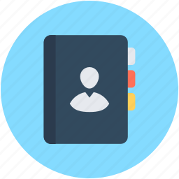 address book, contacts, contacts diary, diary, telephone directory icon