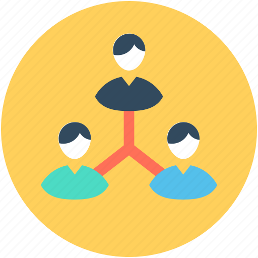 collaboration, group, network, team, team hierarchy icon