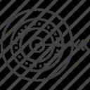 archer, archery, circular target, goal, target icon