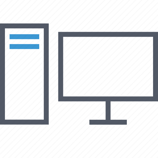 computer, connection, server icon