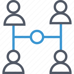 connected, connection, group icon