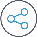 circle, connection, internet icon