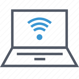 connection, internet, laptop, wifi icon