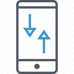 cell, communication, data, phone icon