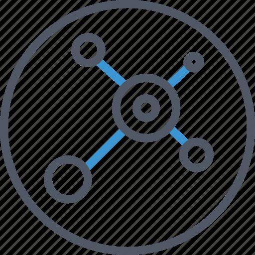 circle, communication, data icon
