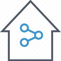 communication, data, home, house icon