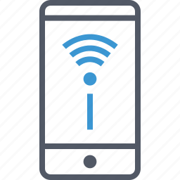 cell, phone, wifi icon
