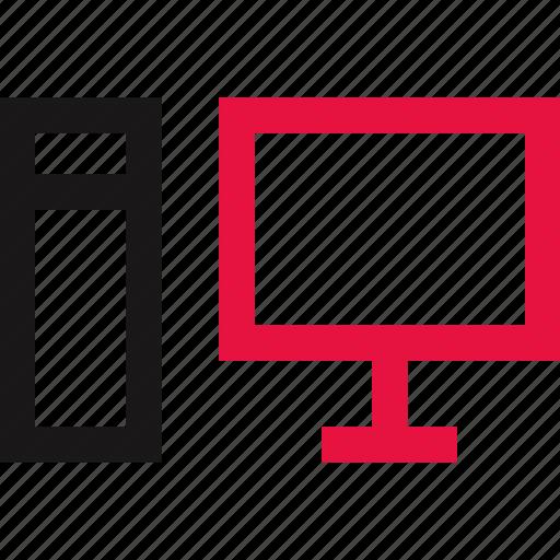 communication, computer, desk, online icon
