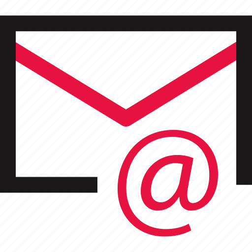 at, communication, email, mail, online icon