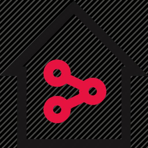 communication, data, house, online icon