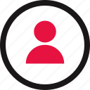 circle, communication, online, person, user icon