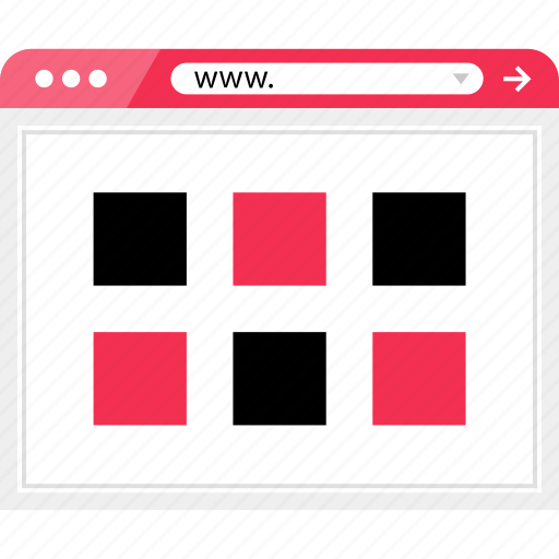 gallery, grid, layout, page icon